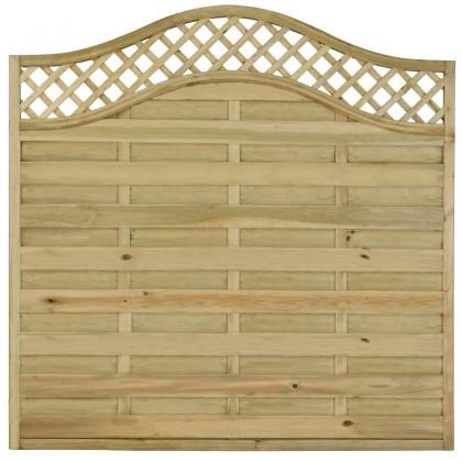 Wave Lattice Top Fence Panel